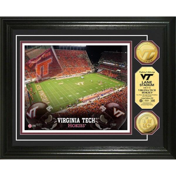 Highland Mint Virginia Tech Lane Stadium 24k Gold Coin Photo Mint