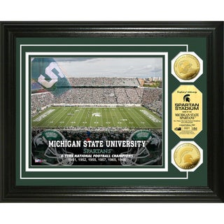 Highland Mint Michigan State Spartan Stadium 24k Gold Coin Photo Mint