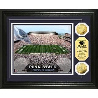 Highland Mint Penn State University Beaver Stadium 24k Gold Coin Photo Mint
