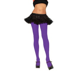 Leg Avenue Women's Nylon Opaque Purple Tights
