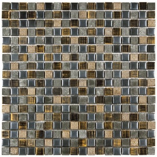 SomerTile Isle Baltica 11.75-inch Porcelain Mosaic Tiles (Pack of 10)