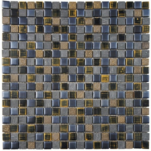 SomerTile 11.75 x 11.75-inch Isle Baltica Porcelain Mosaic Wall Tile (Case of 10)