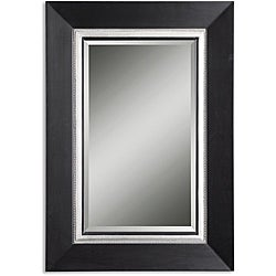 Whitmore Vanity Black Wood Framed Mirror
