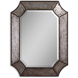 Elliot Distressed Aluminum Rustic Framed Mirror