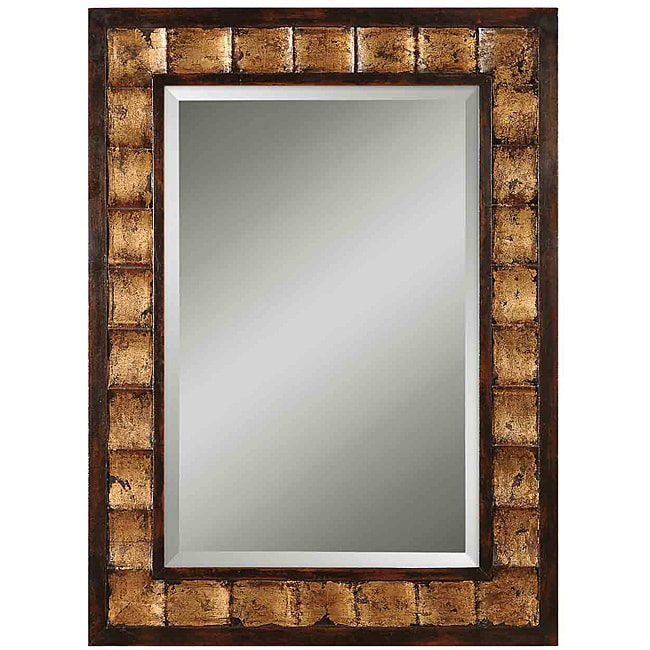 justus distressed wood framed mirror home living decor