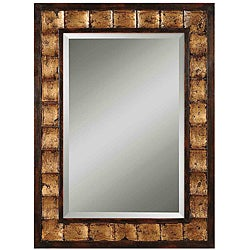 Justus Distressed Mahogany Wood Framed Mirror