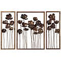 Antiqued Gold Leaf Framed Metal Tulips