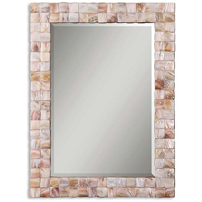 Uttermost Vivian Mother of Pearl Framed Mirror