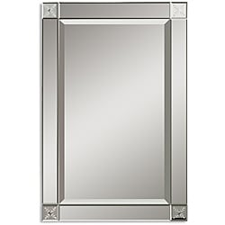 Emberlynn Etched Bevel Framed Mirror