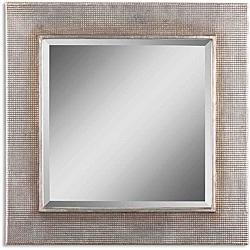 Afton Silver Champage Leaf Framed Mirror