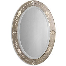 Donna Antique Oval Mirror-Framed Mirror