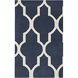 Hand-tufted Averlo Navy Area Rug (5' x 8')
