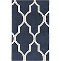 Hand-tufted Averlo Navy Area Rug (8' x 10')