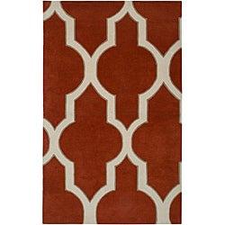 Hand-tufted Averlo Rust Area Rug (5' x 8')