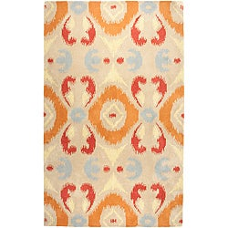 Hand-tufted Averlo Beige Area Rug (5' x 8')