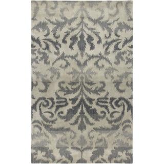 Hand-Tufted Averlo Light Gray Wool Area Rug (8' x 10')