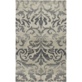 Hand-Tufted Averlo Light Gray Wool Area Rug (8' x 10')