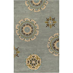 Hand-tufted Averlo Light Blue Area Rug (5' x 8')