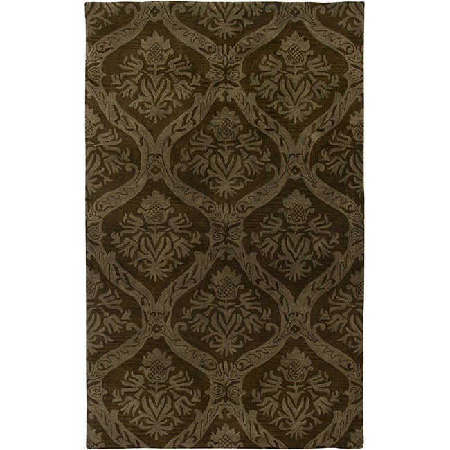 Hand-tufted Averlo Brown Area Rug (8' x 10')