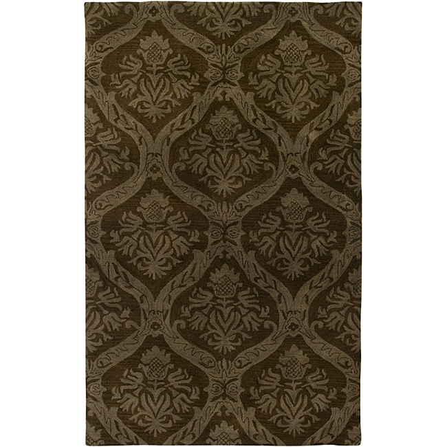 Hand-tufted Averlo Brown Area Rug (9' x 12')