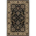 Hand-Tufted Oriental Averlo Blue Rug (5' x 8')