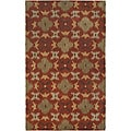 Hand-tufted Averlo Rust Rug (9' x 12')