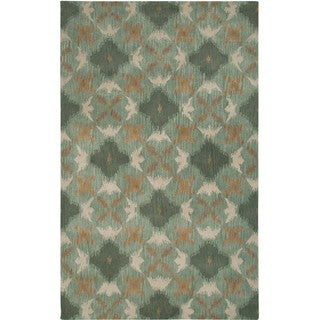Hand-tufted Averlo Blue Area Rug (8' x 10')