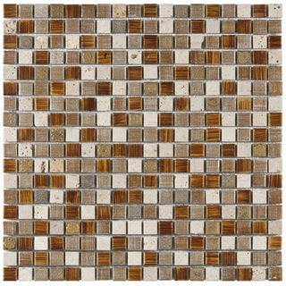 SomerTile Isle Avalonia 11.75-inch Porcelain Mosaic Tiles (Pack of 10)