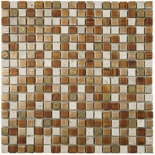 SomerTile 11.75x11.75-inch Isle Avalonia Porcelain Mosaic Wall Tile (Case of 10)