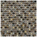 SomerTile Isle Laurentia 11.75-inch Porcelain Mosaic Tiles (Pack of 10)