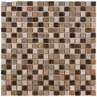 SomerTile Isle Zealandia 11.75-inch Porcelain Mosaic Tiles (Pack of 10)