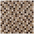 SomerTile Isle Zealandia 11.75-inch Porcelain Mosaic Tiles (Pack of 10)
