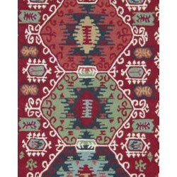 Hand-hooked Rancho Red Rug (3'6 x 5'6)
