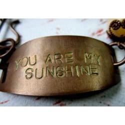 Aragonite 'You are my Sunshine' Vintage Bracelet