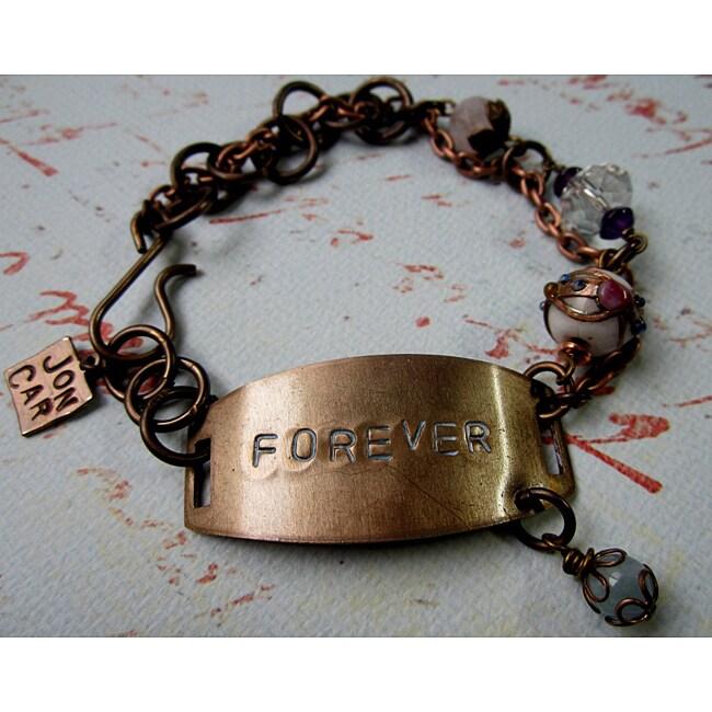Amethyst and Quartz 'Forever' Vintage Bracelet