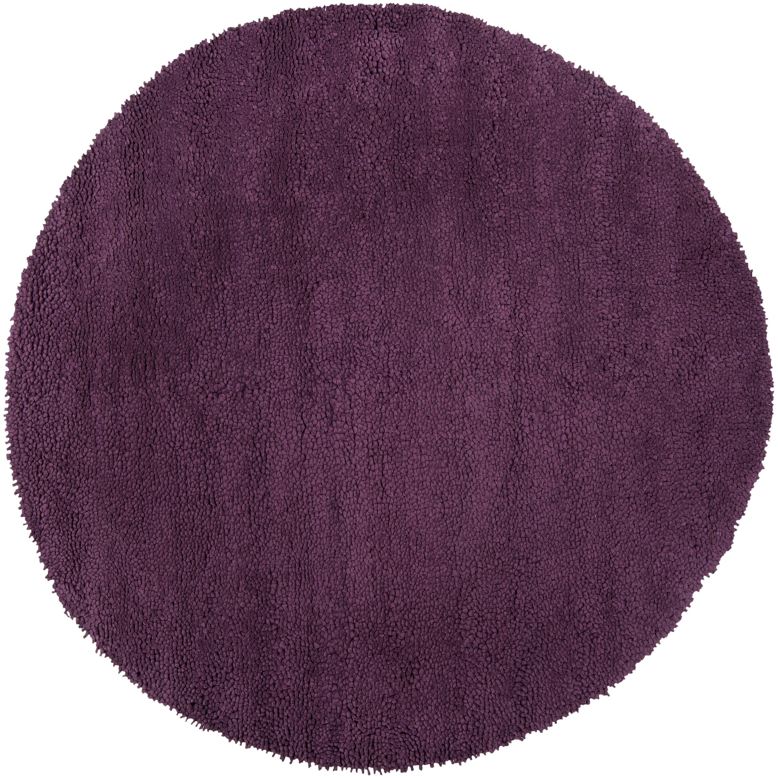 Hand Tufted Purple Wool u0026#39;Stalacpipeu0026#39; Rug (8u0026#39; Round) - 14073134 ...