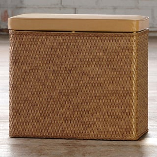 Carter Cappuccino Bench Laundry Hamper