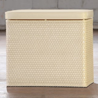 Carter Ivory Bench Laundry Hamper