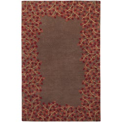 Hand-tufted Chocolate Duty Wool Rug (4' x 6')