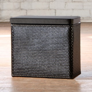 Carter Black Bench Laundry Hamper