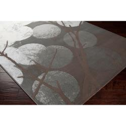 Meticulously Woven Brown Sobatay Abstract Rug (7'10 x 10')
