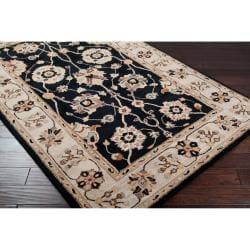 Hand-tufted Black Mayyou Wool Rug (9' x 12')