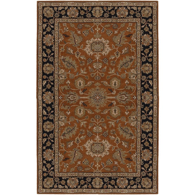 Hand-tufted Rust Crothy Wool Rug (12' x 15')