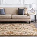 Hand-tufted Gold Snoop Wool Rug (6' x 9')