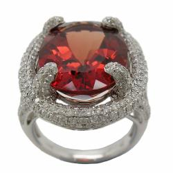 D'sire 18k Gold Red Labradorite and 1 1/4ct TDW Diamond Ring (H-I, I1-I2)