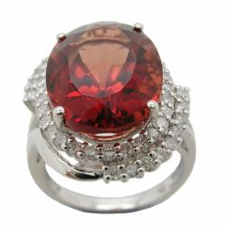 D'sire 18k Gold Red Labradorite and 3/4ct TDW Diamond Ring (H-I, I1-I2)