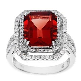 D'sire 18k Gold Red Labradorite and 2/3ct TDW Diamond Ring (H-I, I1-I2)