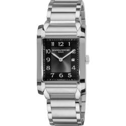Baume & Mercier Men's 'Hampton' Grey Dial Stainless Steel Watch