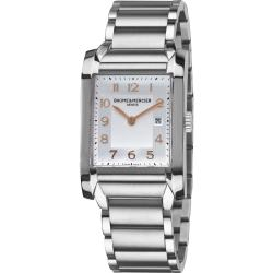 Baume & Mercier Men's 'Hampton' A10020 Silver Dial Stainless Steel Watch