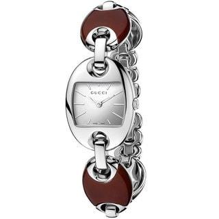 Gucci Women's 'Marina' Red Ceramic and Steel Bracelet Watch